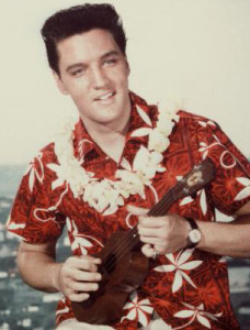 Elvis Presley Plays Ukelele In 'Blue Hawaii'